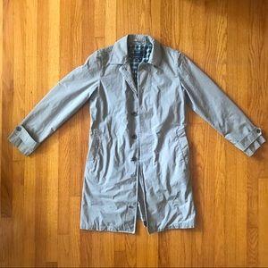 J Crew men's Sutherland trench coat in grey xs